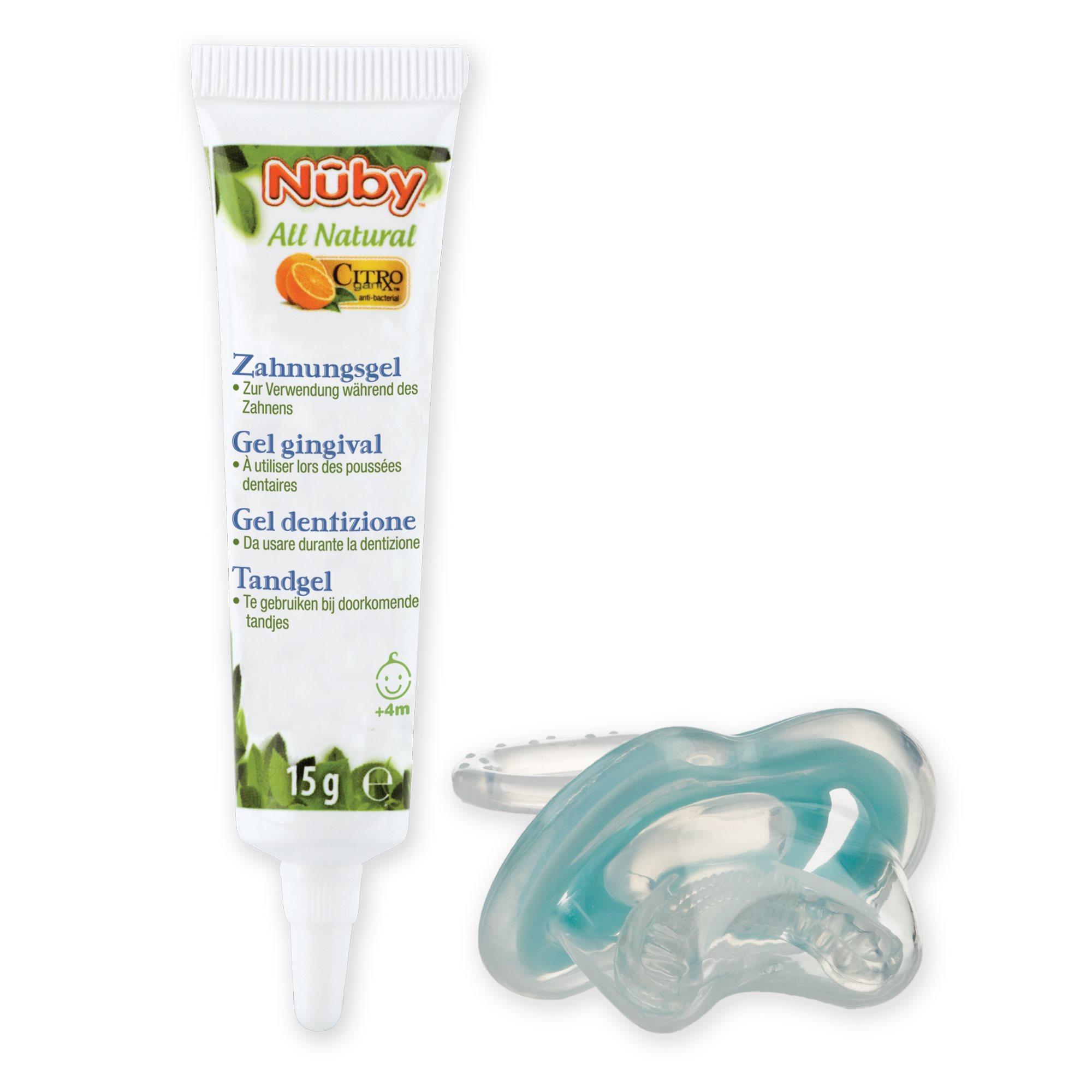 15 g Nuby CG23015ARENPOSP Gel de Dentici/ón Citroganix y Gum Eez