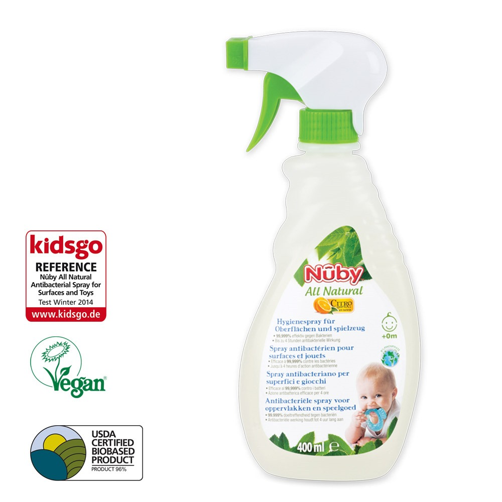 Antibacterial spray for surfaces and toys - 400ml - detail