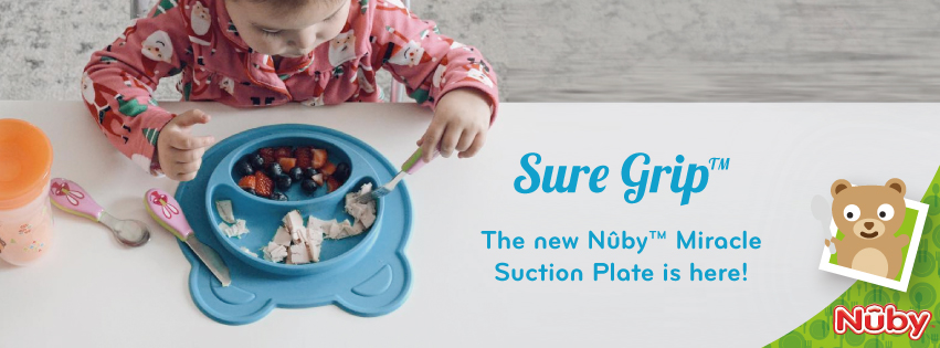 Our Sure Grip™ Miracle Suction plates: they stick with you!